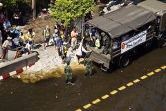 De vloed van Thailand Royalty-vrije Stock Foto's