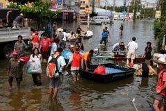 De Vloed van Thailand Stock Foto's