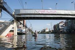 2011 de vloed van Thailand Royalty-vrije Stock Fotografie