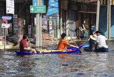 2011 de vloed van Thailand Stock Afbeelding