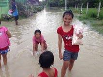 De vloed van Thailand Stock Afbeeldingen