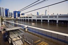 De vloed van Thailand, gebiedsMo Chit Stock Afbeeldingen