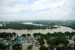 De vloed van Thailand, Natuurramp, Stock Afbeeldingen