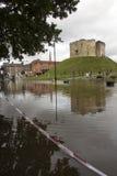 De Vloed van York - Sept.2012 - het UK Stock Afbeelding