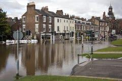 De Vloed van York - Sept.2012 - het UK Stock Foto's