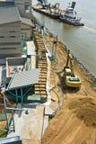 De vloedvoorbereiding van de Rivier van de Mississippi stock foto