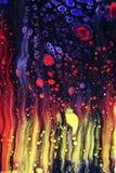 De vloeibare achtergrond van de kunst abstracte kunst Royalty-vrije Stock Foto