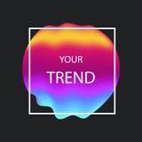 De vloeibare dekking van de kleurengradiënt Vloeibare vormen Futuristisch ontwerp FO Stock Fotografie