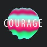 De vloeibare dekking van de kleurengradiënt Vloeibare vormen Futuristisch ontwerp voor: embleem, affiches Stock Afbeelding