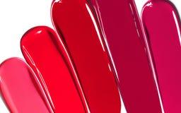 De vloeibare Textuur van Lippenstiftkleuren Royalty-vrije Stock Foto's