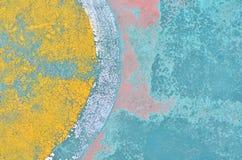 De vloer heeft een barst van kleur, achtergrond Stock Afbeelding