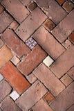 De vloer van de baksteen stock afbeelding