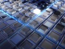De vloer van de glasbezinning stock fotografie