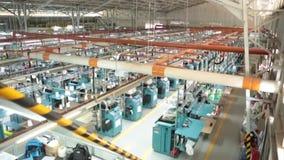 De Vloer van de kledingsfabriek stock videobeelden