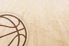 De vloer van het basketbal stock foto