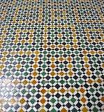 De vloer van het Paleis van Bahia, Marrakech Stock Afbeelding