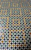 De vloer van het Paleis van Bahia, Marrakech Stock Afbeeldingen