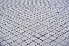 De vloer van de steenstraat stock foto's