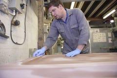 De vloerarbeider van de fabriek Royalty-vrije Stock Foto's
