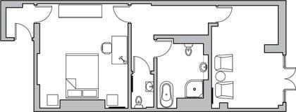 De vloerplan van de architectuur Royalty-vrije Stock Foto