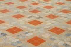 De vloertegels van het cement. Stock Afbeelding