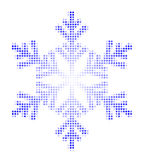 De vlok en de sterren van de sneeuw Royalty-vrije Stock Foto