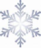 De vlok en de vierkanten van de sneeuw Stock Foto