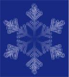 De vlok en de vierkanten van de sneeuw Stock Fotografie