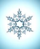 De vlok van de sneeuw Stock Afbeeldingen