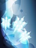 De vlok van de sneeuw Royalty-vrije Stock Foto