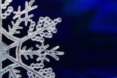 De Vlok van de Sneeuw van Kerstmis Stock Foto's