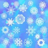 De vlokachtergrond van de sneeuw Royalty-vrije Stock Foto's