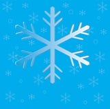 De vlokken van de Kerstmissneeuw op blauw stock illustratie
