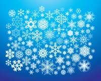 De Vlokken van de sneeuw Stock Afbeelding