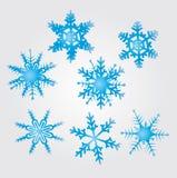 De vlokken van de sneeuw Stock Foto