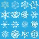 De vlokken van de sneeuw Royalty-vrije Stock Foto's
