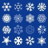 De vlokken van de sneeuw Royalty-vrije Stock Foto