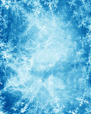 De vlokken van de sneeuw royalty-vrije illustratie