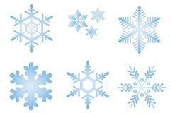 De vlokken van de sneeuw Stock Afbeeldingen