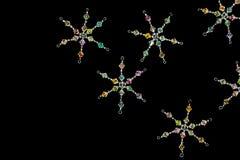 De vlokken van de Sneeuw van het kristal Stock Afbeelding