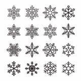 De vlokken van de sneeuw stock illustratie