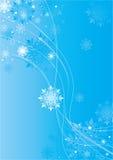 De vlokkenachtergrond van Kerstmis Stock Foto's