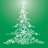 De vlokKerstboom van de sneeuw Stock Afbeeldingen