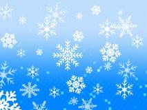 De vlokontwerp van de sneeuw Stock Foto's