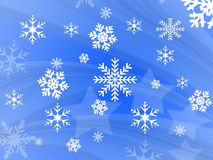 De vlokontwerp van de sneeuw Stock Foto