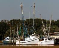 De Vloot van de garnalenboot royalty-vrije stock foto's