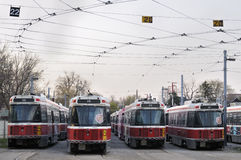 De Vloot van de Tram TTC op Staking Stock Afbeelding