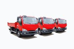 De vloot van de vrachtwagen stock afbeeldingen