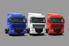 De vloot van de vrachtwagen royalty-vrije stock afbeelding