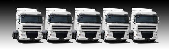 De vloot van de vrachtwagen stock fotografie